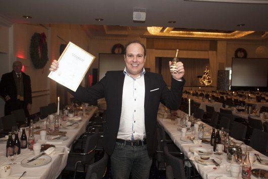 Simon Eisner prisas på Svenskt Näringslivs entreprenörsgala.