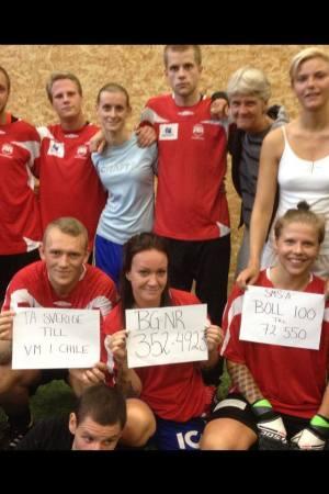 Nu vill Gatans lag ta sig till VM i Chile i slutet på oktober 2014. Och de behöver din hjälp!