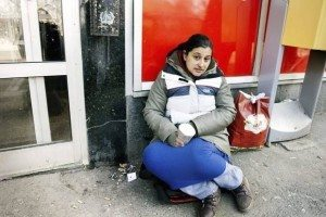 Vanessa Ileva från Bulgarien har suttit och tiggt utanför Hemköpsbutiken på Stigbergstorget i över ett år. Nu är hon hemma i Bulgarien igen, men har sagt att hon ska komma tillbaka till Göteborg.