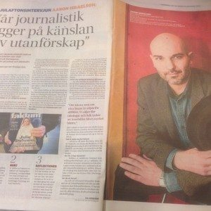 Aaron Israelson intervjuades i GP om Faktums succéjournalistik julen 2013.